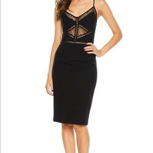 Bardot Jayne Lace Inset Cocktail Dress S